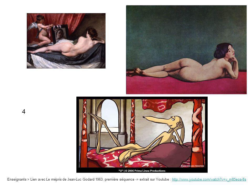 Enseignants > Lien avec Le mépris de Jean-Luc Godard 1963, première séquence -> extrait sur Youtube : http://www.youtube.com/watch?v=v_m85eoa-8shttp:/