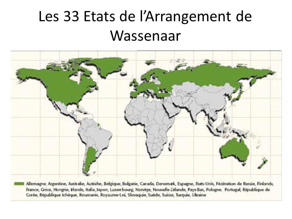 Les 33 Etats de lArrangement de Wassenaar