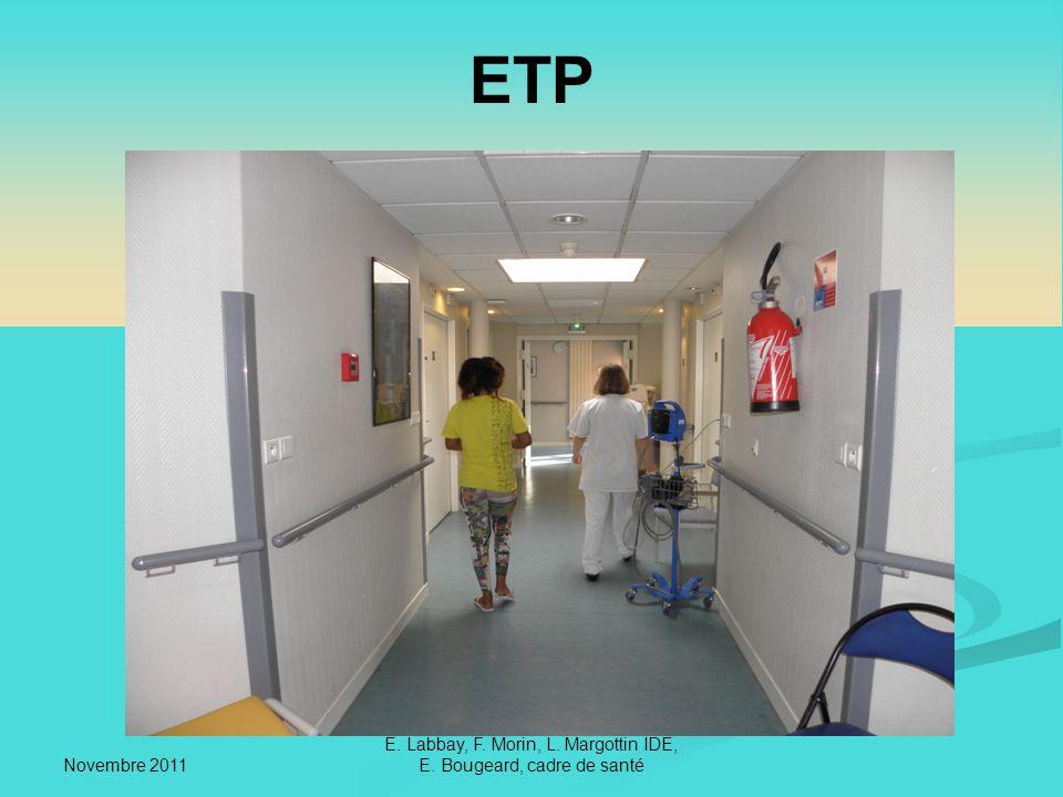 Novembre 2011 E. Labbay, F. Morin, L. Margottin IDE, E. Bougeard, cadre de santé ETP