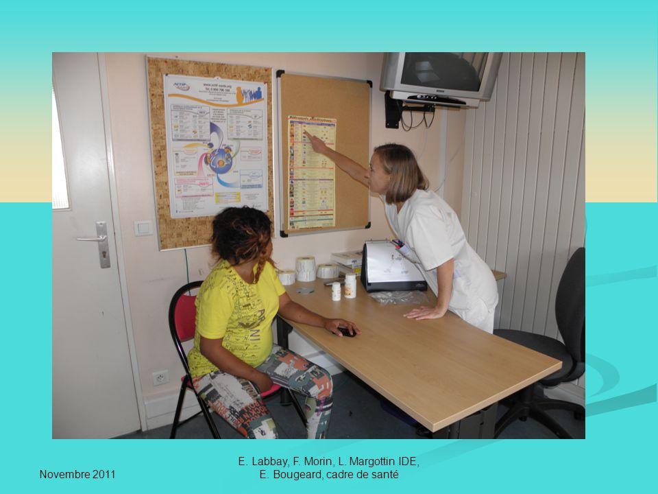 Novembre 2011 E. Labbay, F. Morin, L. Margottin IDE, E. Bougeard, cadre de santé