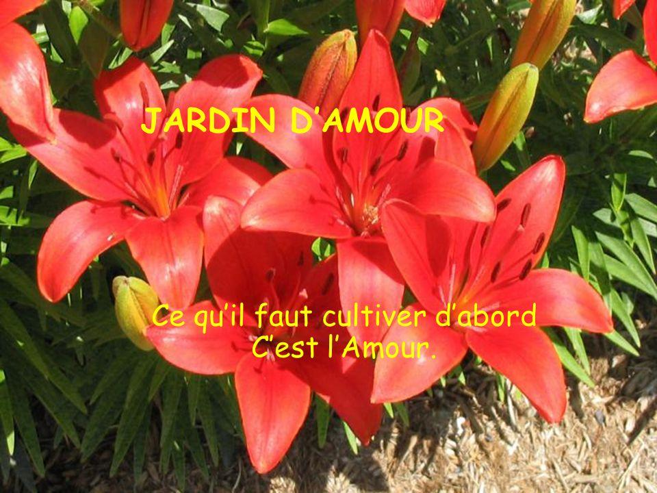 JARDIN DAMOUR Ce quil faut cultiver dabord Cest lAmour.