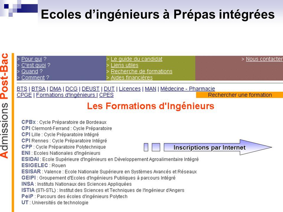 Ecoles dingénieurs post-bac : Concours ENI Il existe cinq ENI (Ecoles nationales dingénieurs).