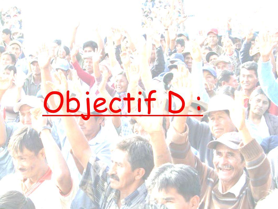 Objectif D :