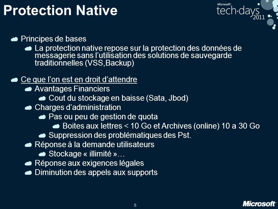 26 Recovery Database Etapes de récupération avec un base de données différée DB 1 Groupe de disponibilité de base de données(DAG) Serveur Bal 1 Serveur Bal 2 Serveur Bal 3 Serveur Bal 4 1.
