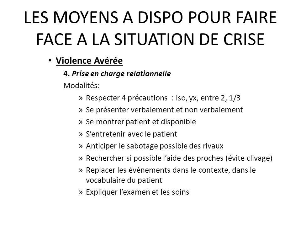 LES MOYENS A DISPO POUR FAIRE FACE A LA SITUATION DE CRISE 3.