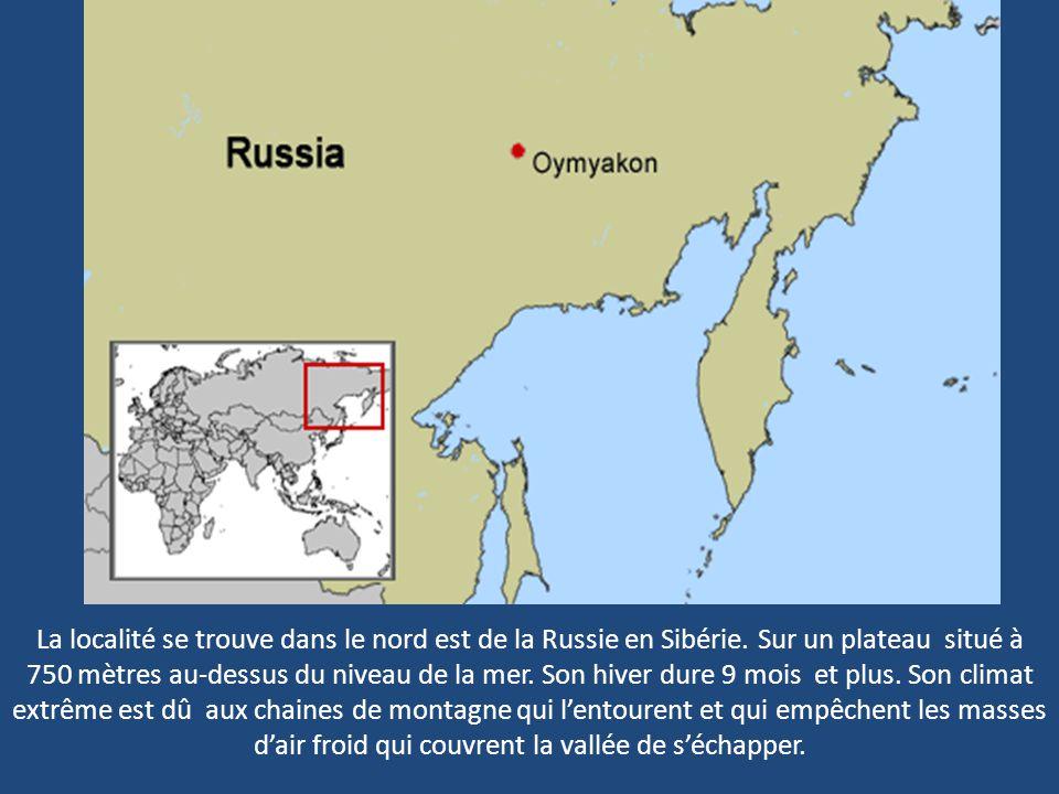 La localité se trouve dans le nord est de la Russie en Sibérie.