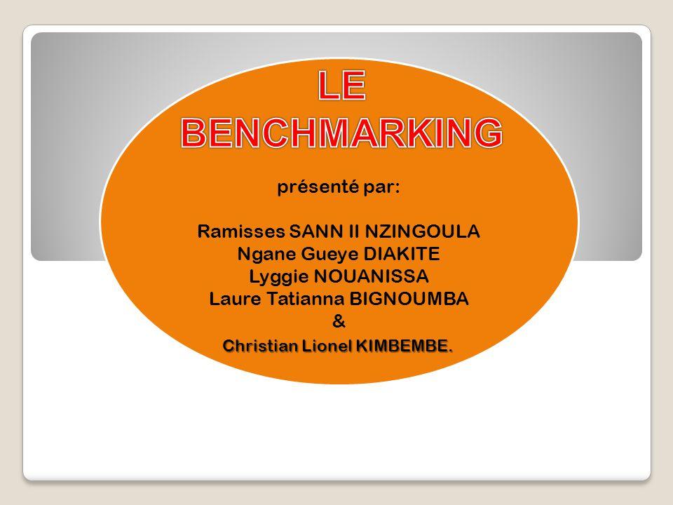 05 Décembre 2009Professeur: Mr GUEYE2 Définition Définition Utilité du Benchmarking Utilité du Benchmarking Types de Benchmarking Types de Benchmarking Statistiques Statistiques Freins à lutilisation du Benchmarking Freins à lutilisation du Benchmarking Conclusion.