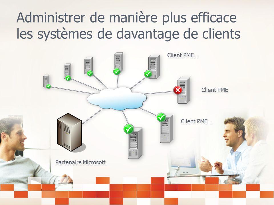 Administrer de manière plus efficace les systèmes de davantage de clients Client PME Partenaire Microsoft Client PME…