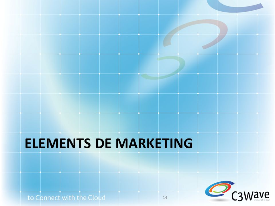 ELEMENTS DE MARKETING 14