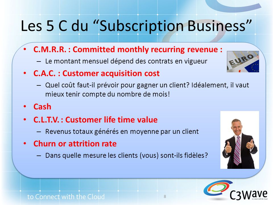 Les 5 C du Subscription Business C.M.R.R.