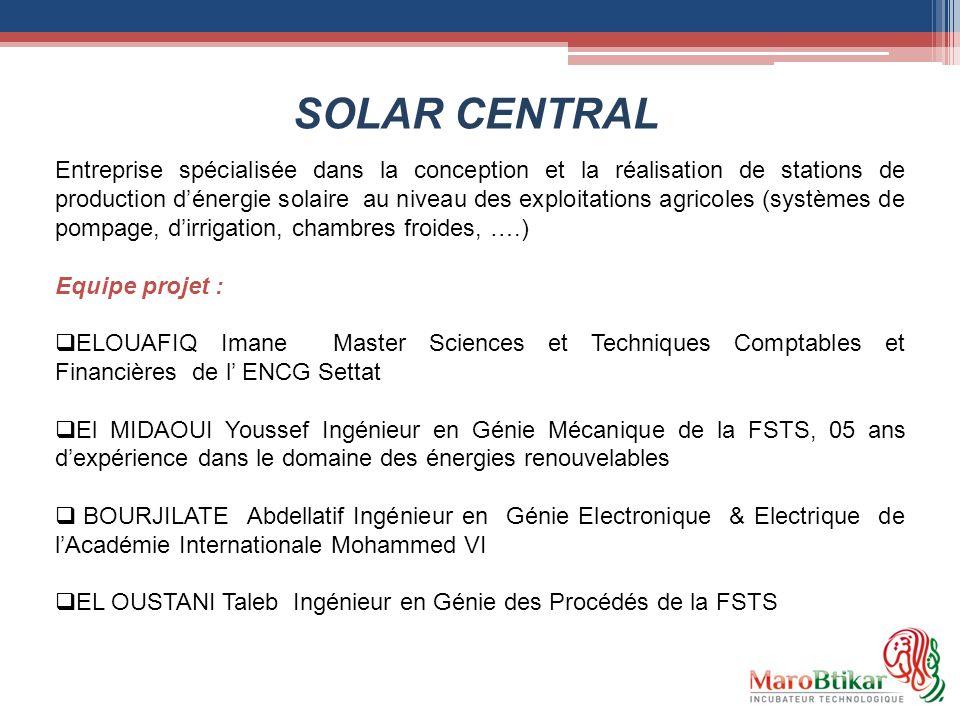 Entreprise spécialisée dans la conception et la réalisation de stations de production dénergie solaire au niveau des exploitations agricoles (systèmes
