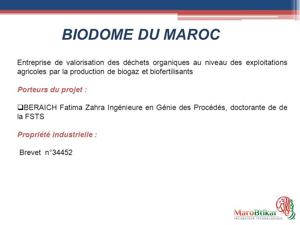 Entreprise de valorisation des déchets organiques au niveau des exploitations agricoles par la production de biogaz et biofertilisants Porteurs du pro