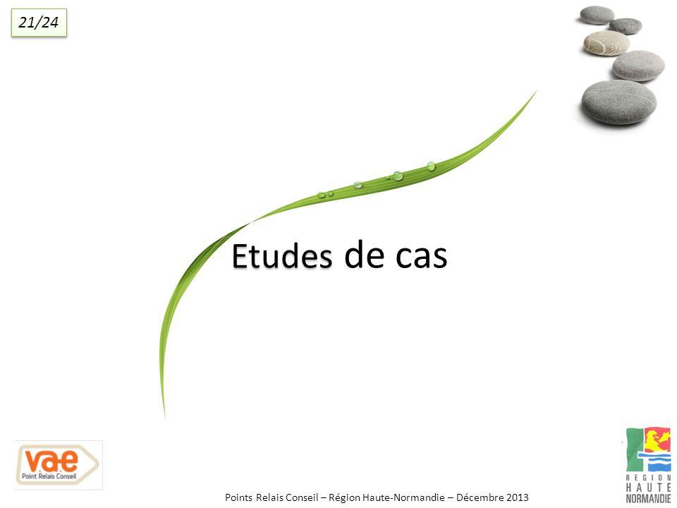 Etudes Etudes de cas Points Relais Conseil – Région Haute-Normandie – Décembre 2013 21/24