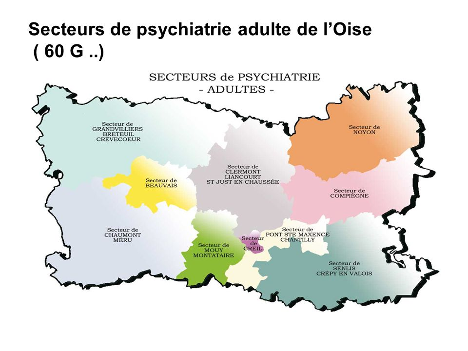 Secteurs de psychiatrie adulte de lOise ( 60 G..)