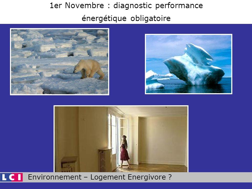 Environnement – Logement Energivore ? 1er Novembre : diagnostic performance énergétique obligatoire