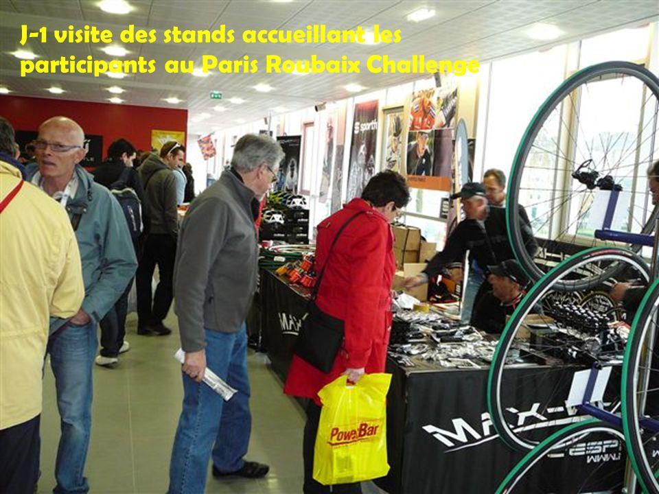 J-1 visite des stands accueillant les participants au Paris Roubaix Challenge