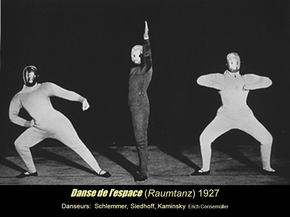 Danse de lespace (Raumtanz) 1927 Danseurs: Schlemmer, Siedhoff, Kaminsky Erich Consemüller