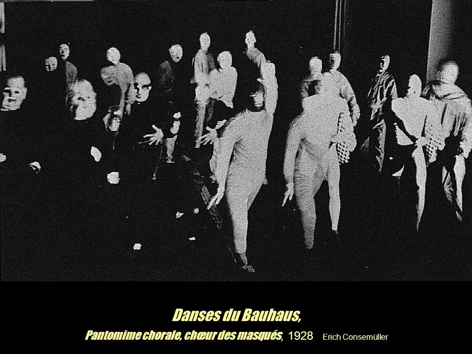 Danses du Bauhaus, Pantomime chorale, chœur des masqués, 1928 Erich Consemüller