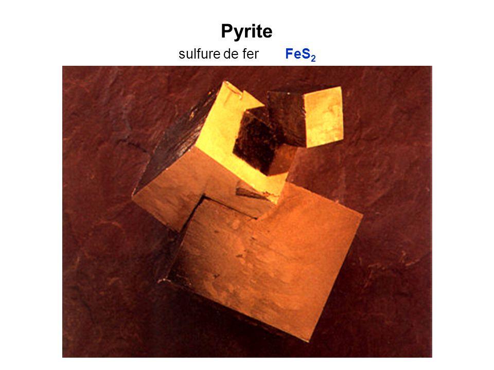 Pyrite sulfure de fer FeS 2