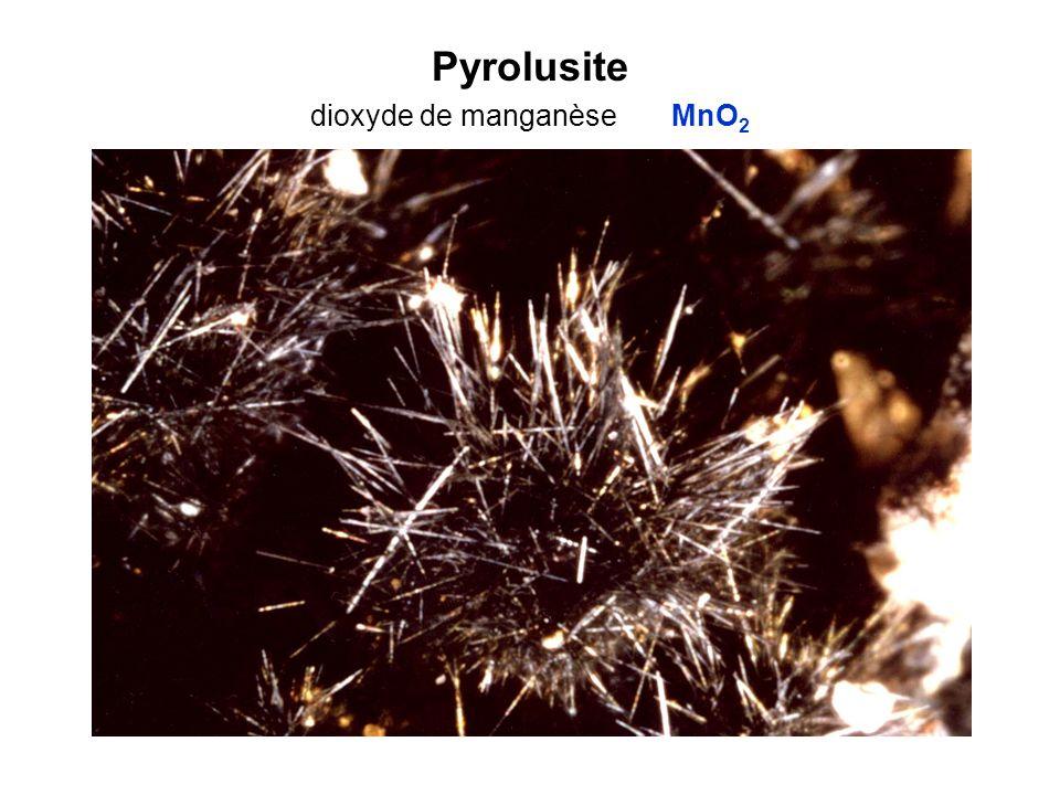 Pyrolusite dioxyde de manganèse MnO 2