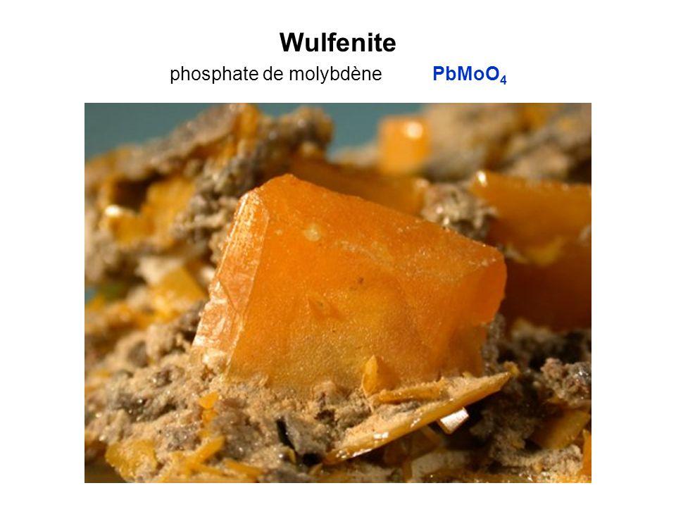 Wulfenite phosphate de molybdène PbMoO 4