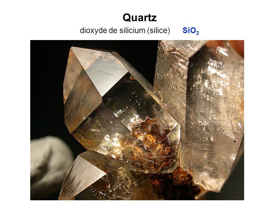 Quartz dioxyde de silicium (silice) SiO 2