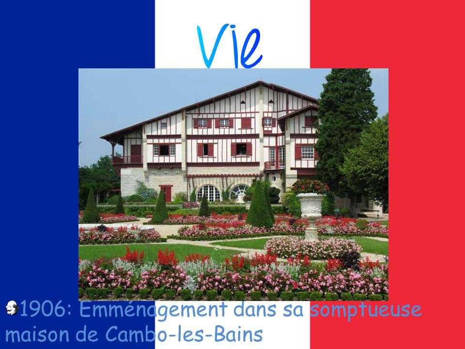 1906: Emménagement dans sa somptueuse maison de Cambo-les-Bains
