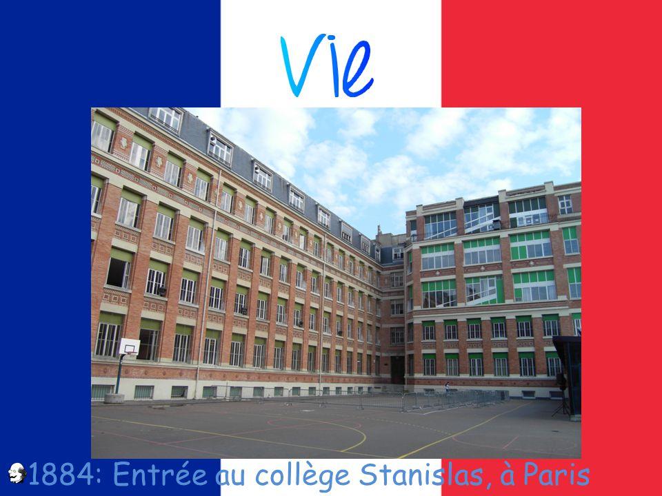 1884: Entrée au collège Stanislas, à Paris
