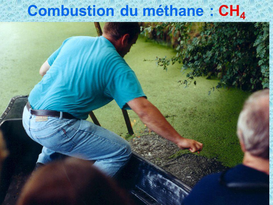 32 Combustion du méthane : CH 4