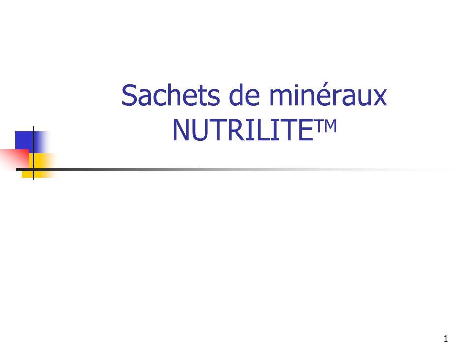 1 Sachets de minéraux NUTRILITE TM