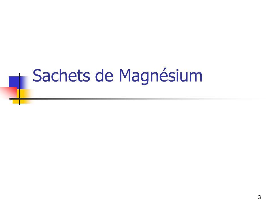 3 Sachets de Magnésium