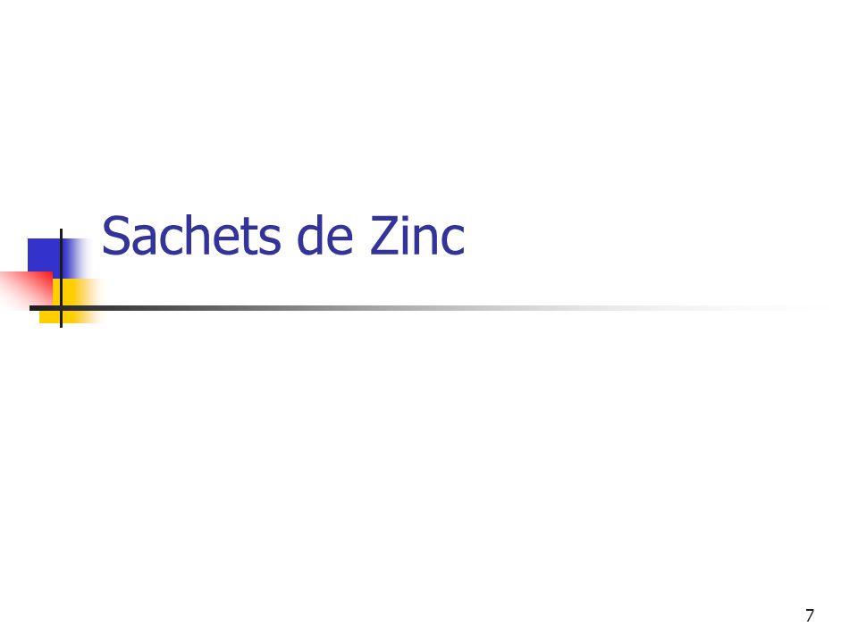 7 Sachets de Zinc