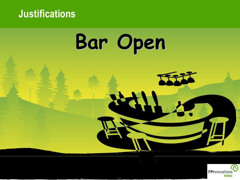 Justifications Bar Open