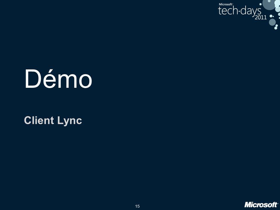 15 Démo Client Lync
