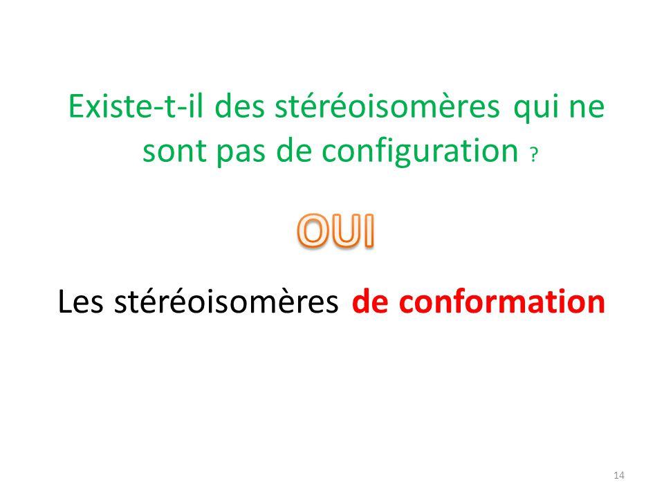 Existe-t-il des stéréoisomères qui ne sont pas de configuration ? Les stéréoisomères de conformation 14
