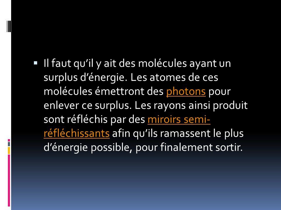 Lhistoire du LASER Le premier maser (microwave amplification by stimulated emission of radiation) fut créé par J.