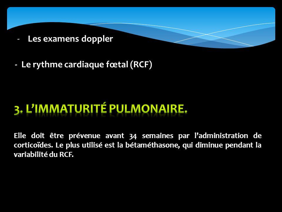 -Les examens doppler - Le rythme cardiaque fœtal (RCF)