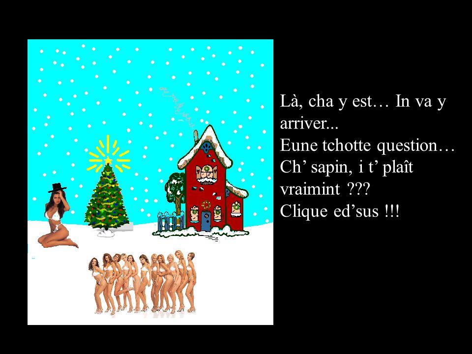 Là, cha y est… In va y arriver...Eune tchotte question… Ch sapin, i t plaît vraimint ??.