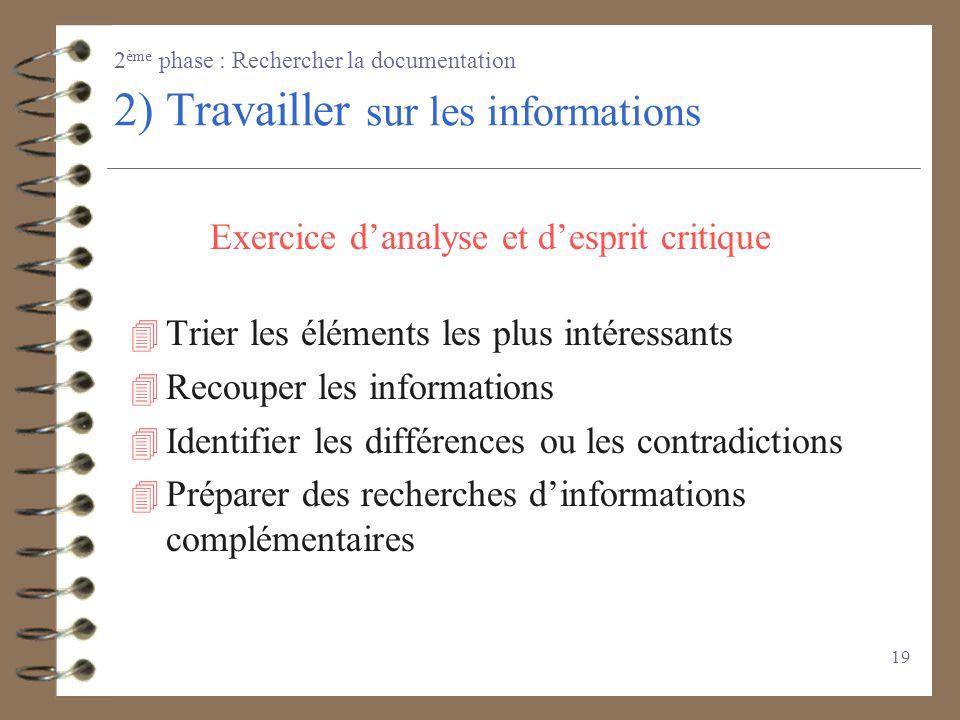 18 Sur Internet Moteur de recherche Banque de données http:// www.inpi.fr (brevets en France depuis 20 ans) http:// www.cnam.fr http://gallica.bnf.fr