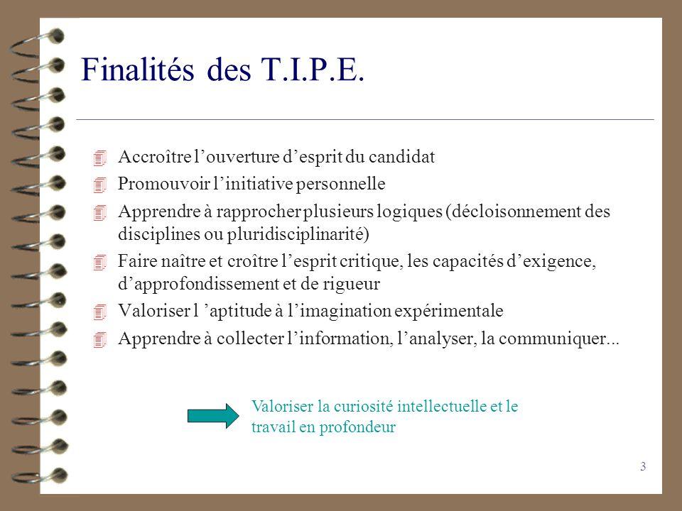 2 Plan de la présentation 1) Finalité des TIPE 2) Contenu de lépreuve 3) Partie D : Dossier 4) Partie C : Candidat 5) Les transparents 6) Thème 2012-2