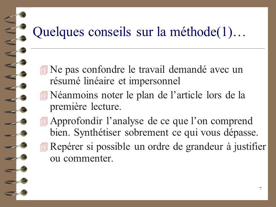 6 Document Scientifique 4 Dossier en rapport avec le thème. 4 Peut être pluridisciplinaire. 4 Constitué dun document principal souvent long et parfois