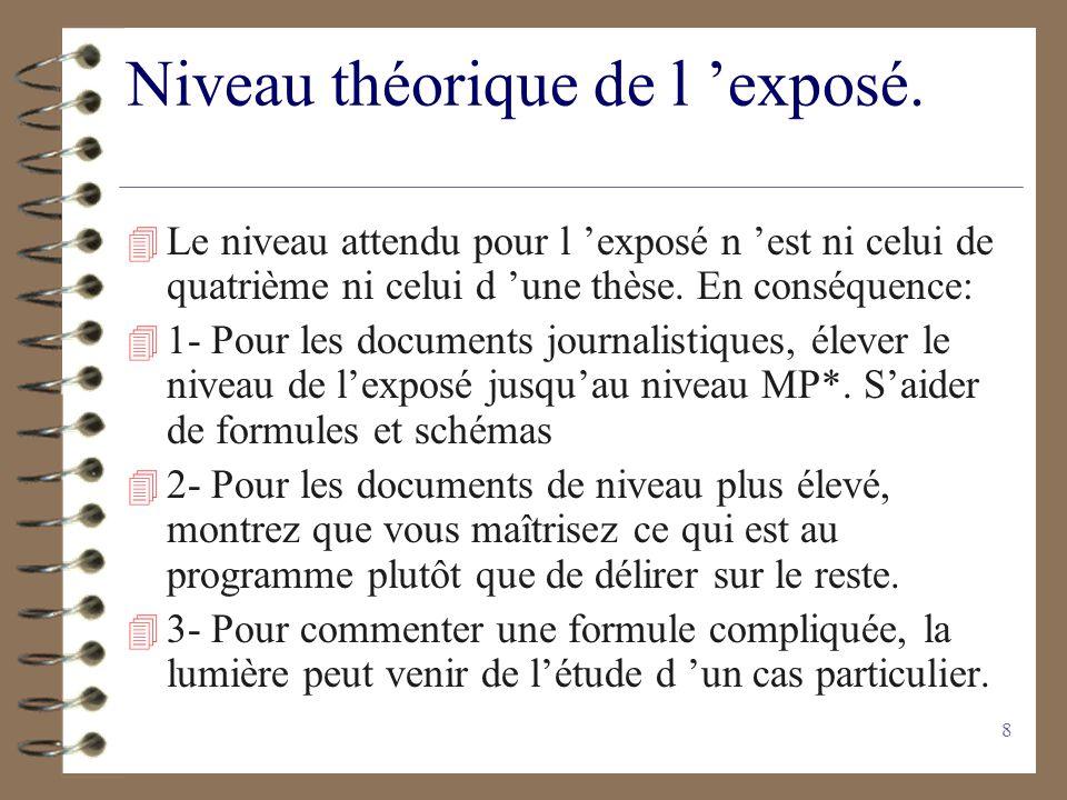 7 Quelques conseils sur la méthode(1)… 4 Ne pas confondre le travail demandé avec un résumé linéaire et impersonnel 4 Néanmoins noter le plan de larti