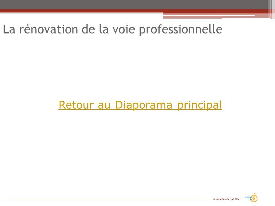 La rénovation de la voie professionnelle Retour au Diaporama principal © Académie de Lille