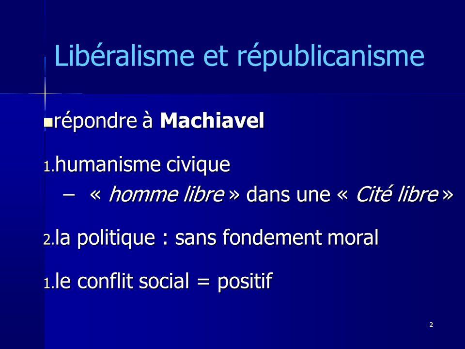 répondre à Machiavel répondre à Machiavel 1.