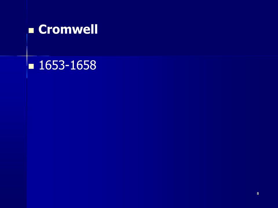Cromwell 1653-1658 8