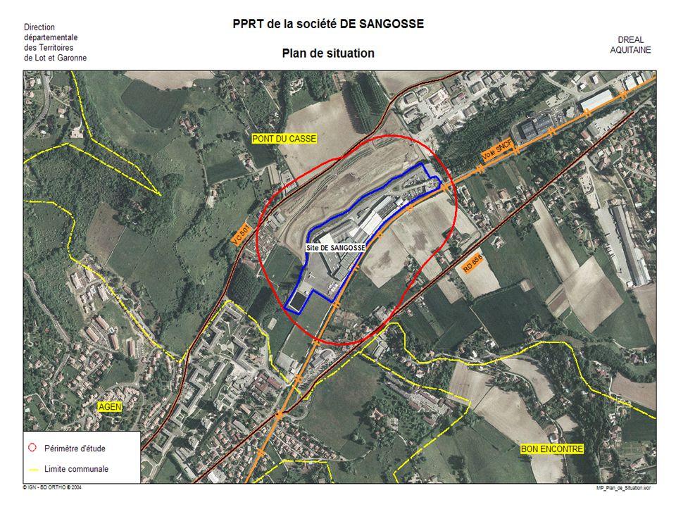 PPRT de DE SANGOSSE PLAN DE PREVENTION DES RISQUES TECHNOLOGIQUES Phases ALEAS / ENJEUX
