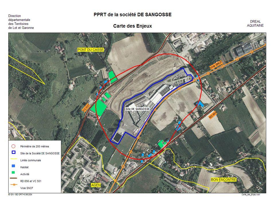 PPRT de DE SANGOSSE PLAN DE PREVENTION DES RISQUES TECHNOLOGIQUES 3 ZONES