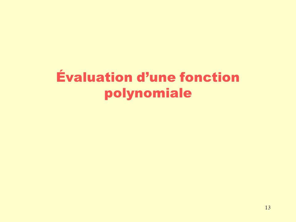 13 Évaluation dune fonction polynomiale