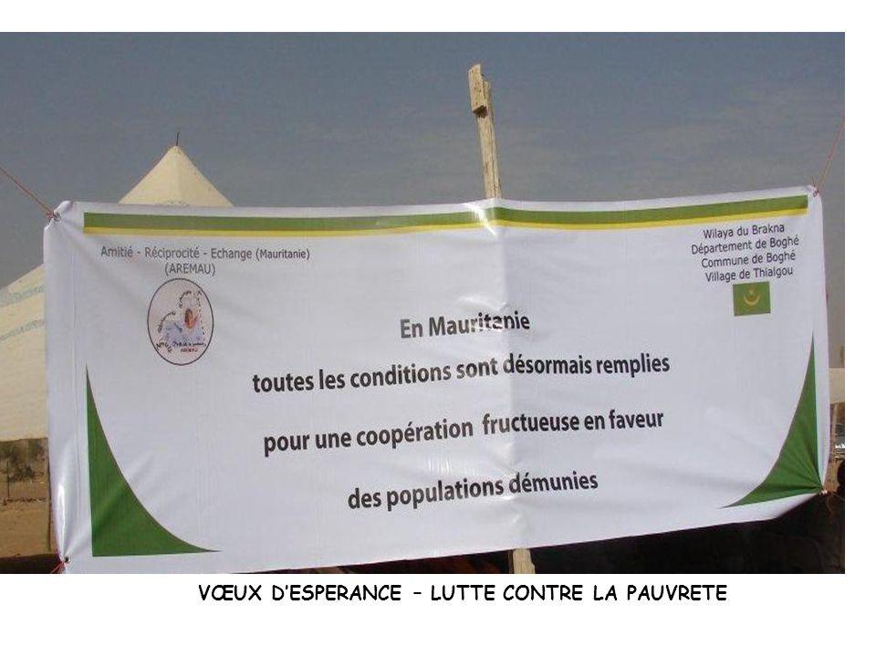 VŒUX D'ESPERANCE – LUTTE CONTRE LA PAUVRETE