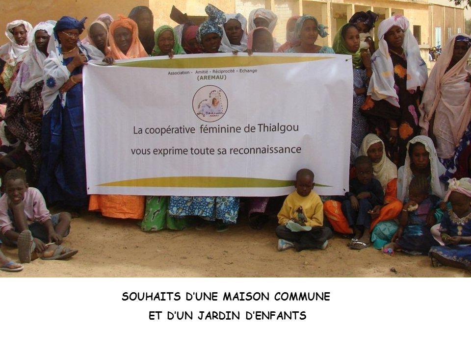 SOUHAITS D'UNE MAISON COMMUNE ET D'UN JARDIN D'ENFANTS
